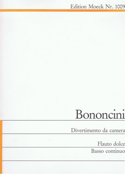 Bononcini: Divertimento da Camera for Treble Recorder and Basso Continuo