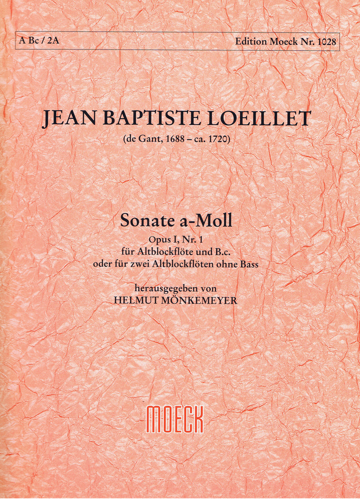 Loeillet: Sonata in A Minor for Treble Recorder and Basso Continuo