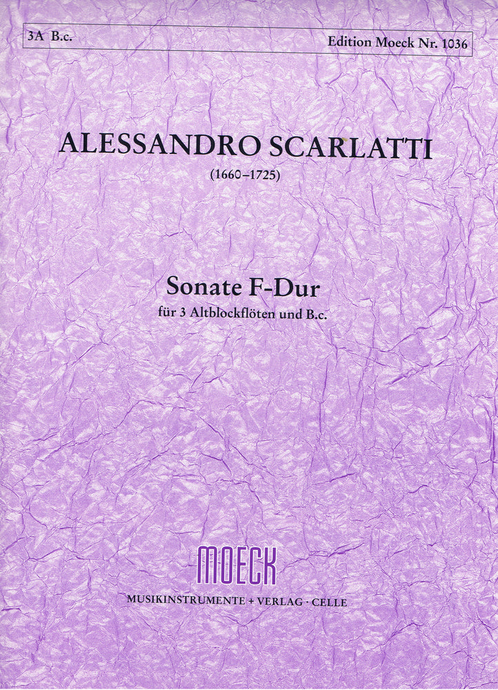 Scarlatti: Sonata in F Major for 3 Alto Recorders and Basso Continuo