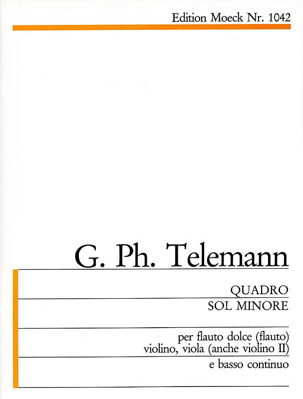 Telemann: Quartet in G Minor for Treble Recorder, Violin, Viola and Basso Continuo