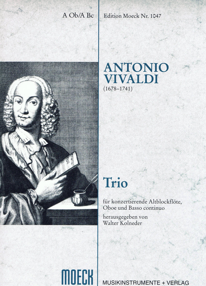Vivaldi: Trio for Treble Recorder, Oboe and Basso Continuo