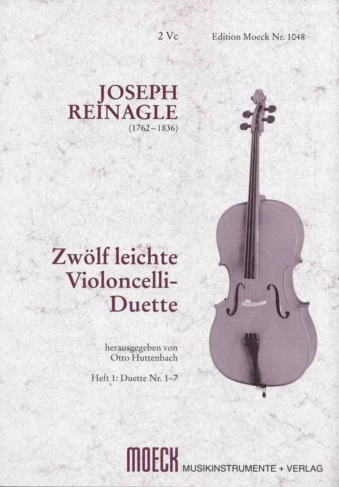Reinagle: 12 Easy Duets for Violoncellos, Vol. 1 Duets 1-7