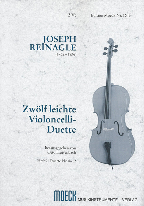 Reinagle: 12 Easy Duets for Violoncellos, Vol. 2 Duets 9-12
