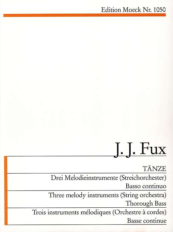 Fux: Dances for 3 Instruments and Basso Continuo - Score