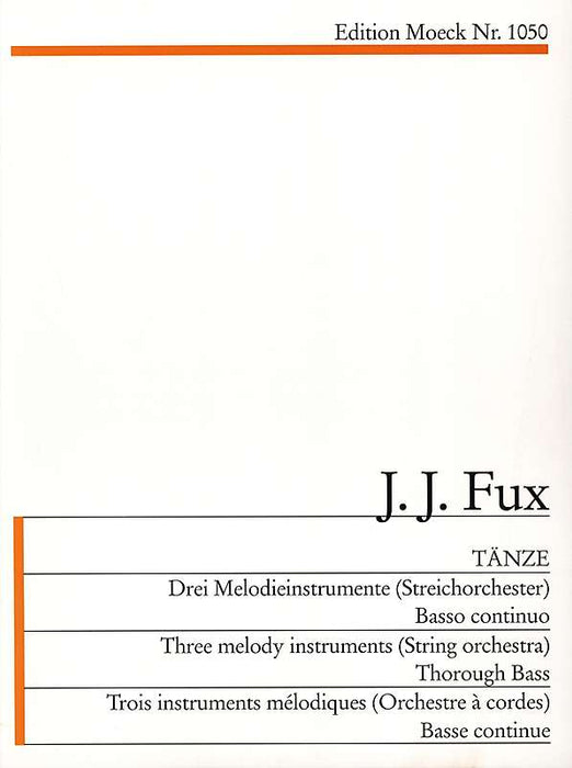 Fux: Dances for 3 Instruments and Basso Continuo - Instrument 1 Part