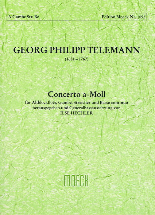 Telemann: Concerto in A Minor for Treble Recorder, Viola di Gamba, Strings and Basso Continuo