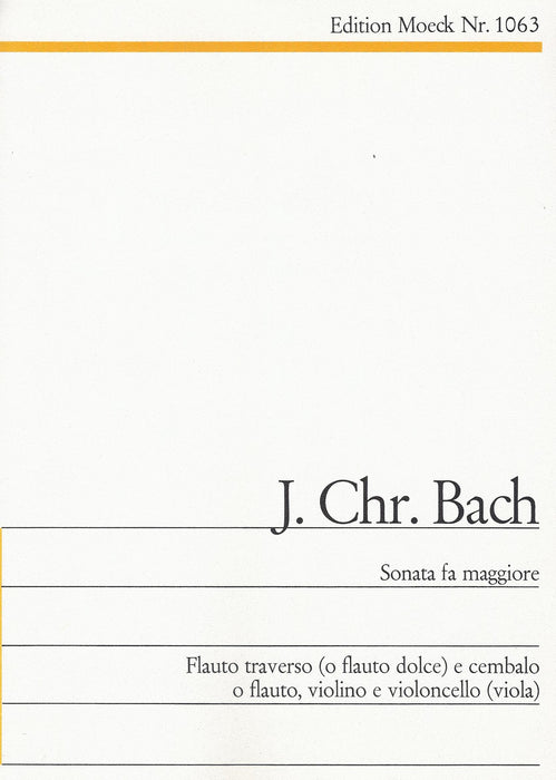 J.C. Bach: Sonata in F Major for Flute and Harpsichord