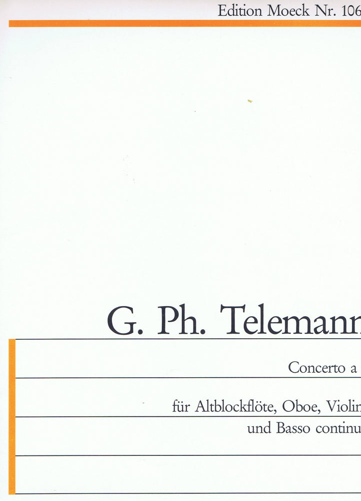 Telemann: Concerto in A Minor for Treble Recorder, Oboe, Violin and Basso Continuo