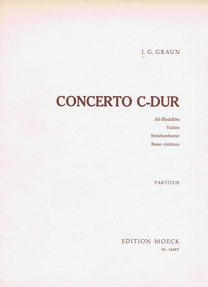 Graun: Concerto in C Major for Treble Recorder, Violin, Strings and Basso Continuo - Violin 3