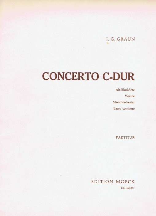 Graun: Concerto in C Major for Treble Recorder, Violin, Strings and Basso Continuo - Violin 2