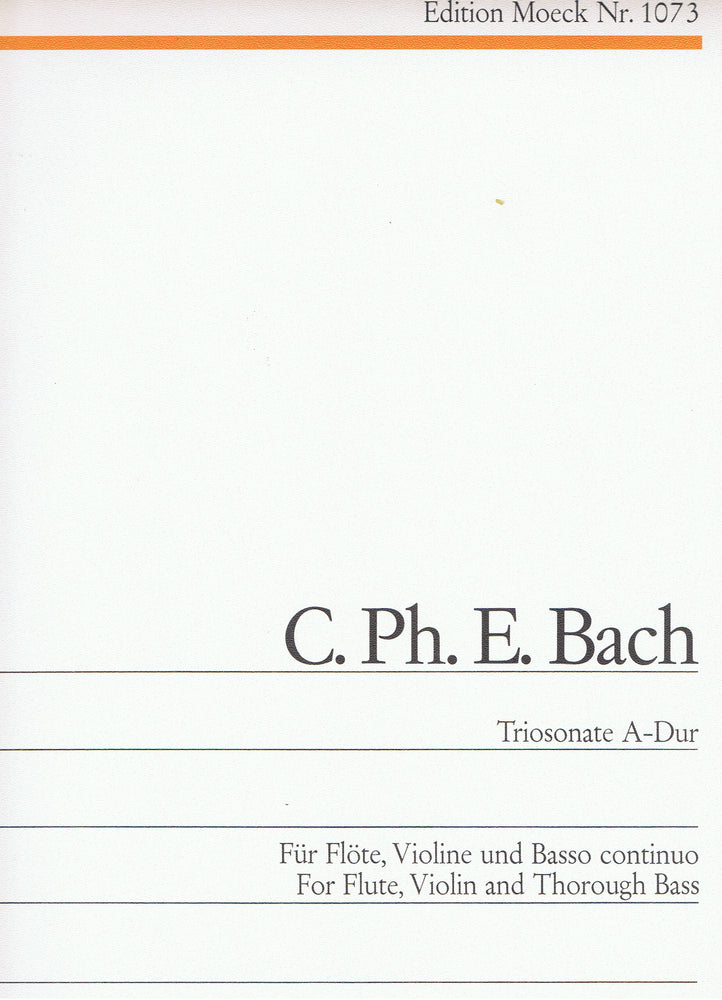 C. P. E. Bach: Trio Sonata in A Major for Flute, Violin and Basso Continuo