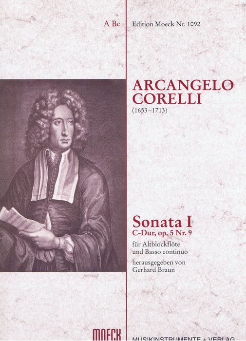 Corelli: Sonata I in C Major for Treble Recorder and Basso Continuo
