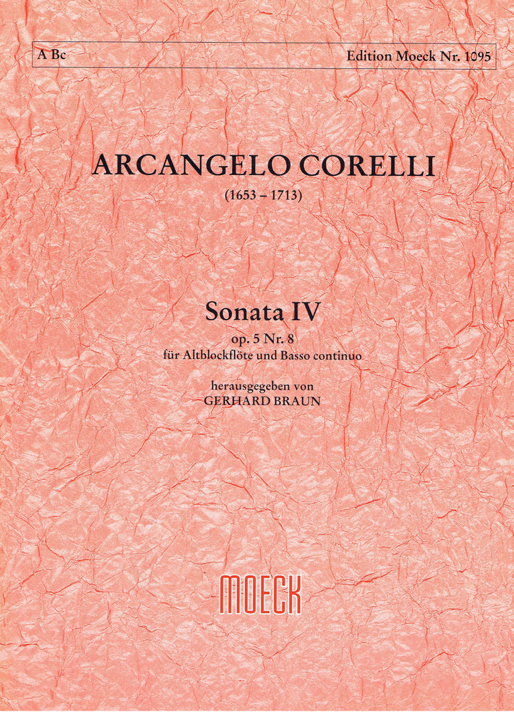 Corelli: Sonata IV in G Minor for Treble Recorder and Basso Continuo