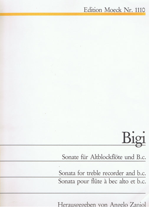 Bigi: Sonata in F Major for Treble Recorder and Basso Continuo