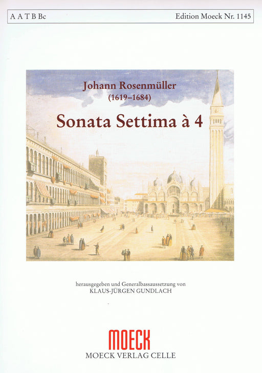 Rosenmueller: Sonata Settima à 4 for 4 Recorders and Basso Continuo