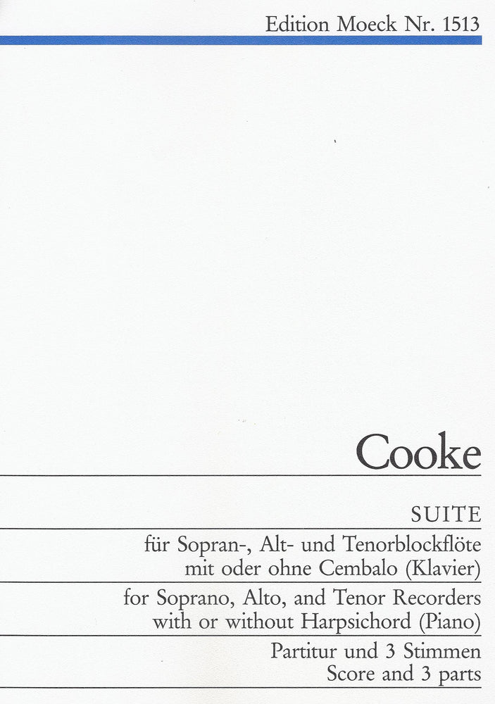Cooke: Suite for Descant, Treble and Tenor Recorders
