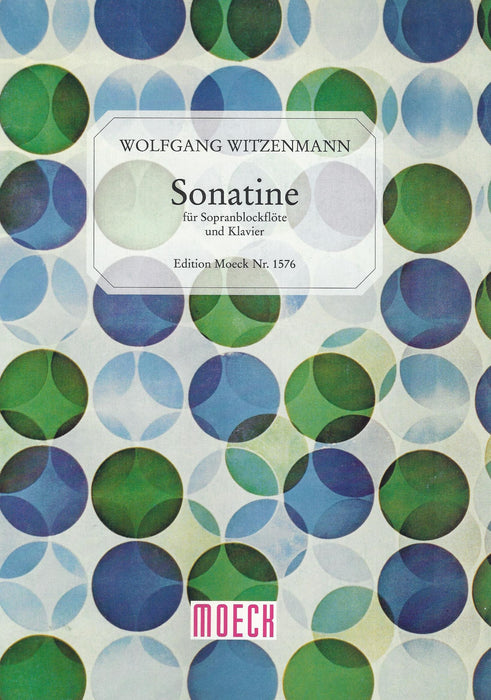 Witzenmann: Sonatina for Descant Recorder and Piano