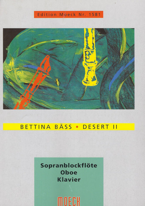 Baess: Desert II for Descant Recorder, Oboe and Piano
