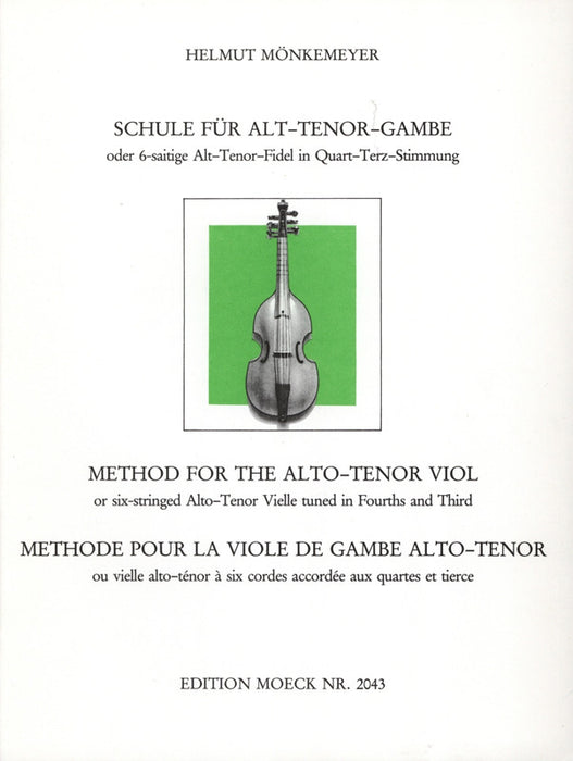 Monkemeyer: Method for the Tenor Viol