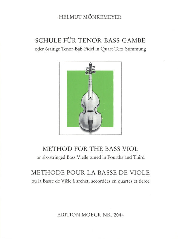 Monkemeyer: Method for the Bass Viol
