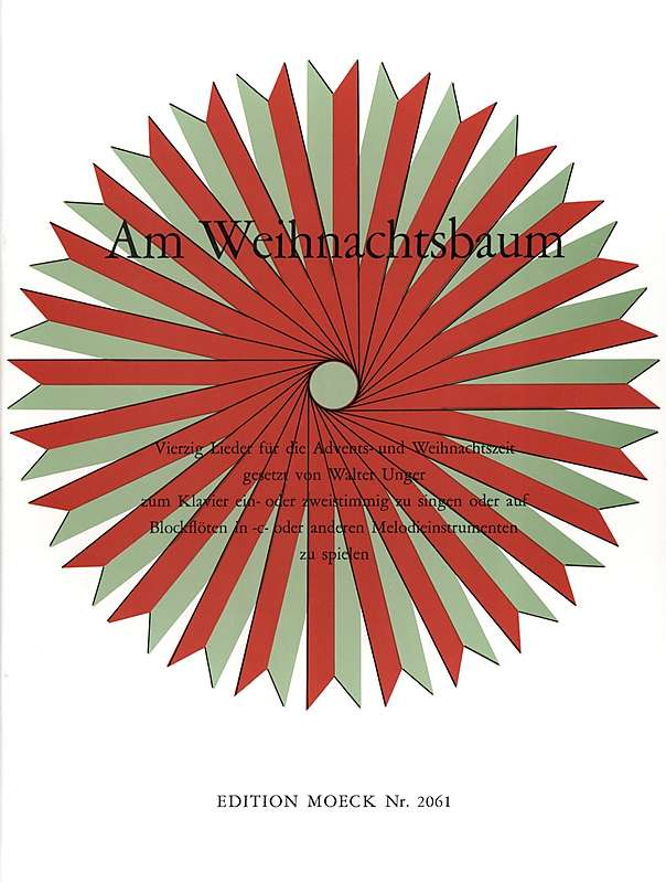 Various: Am Weihnachtsbaum - 40 German Christmas Songs for 2 Recorders and Piano