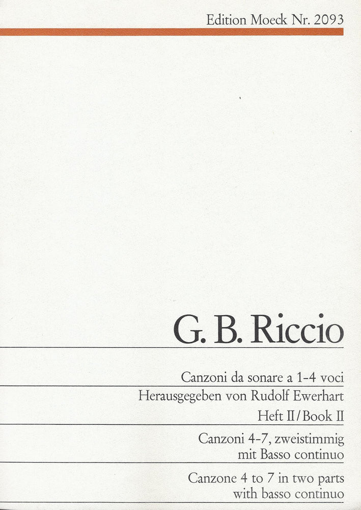 Riccio: Canzonas 4-7 for 2 Instruments and Basso Continuo