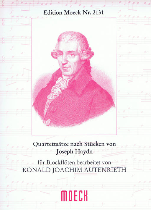 Autenrieth (ed.): Arrangements of Pieces by Haydn for Recorder Quartet
