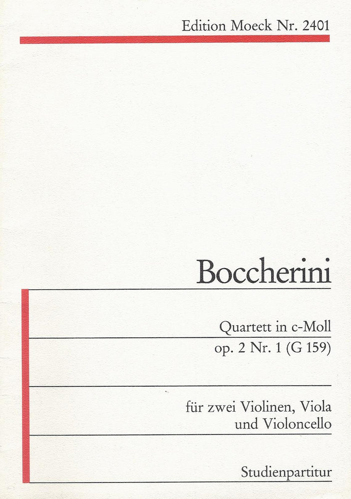 Boccherini: Quartet in C Minor Op. 2 No. 1 for 2 Violins, Viola and Violoncello - Study Score