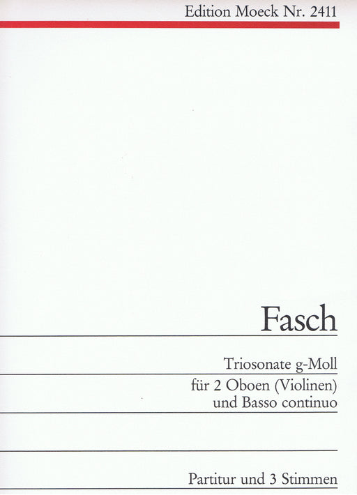 Fasch: Trio Sonata in G Minor for 2 Oboes or Violins and Basso Continuo
