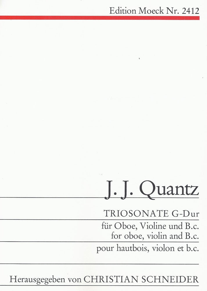 Quantz: Trio Sonata in G Major for Oboe, Violin and Basso Continuo