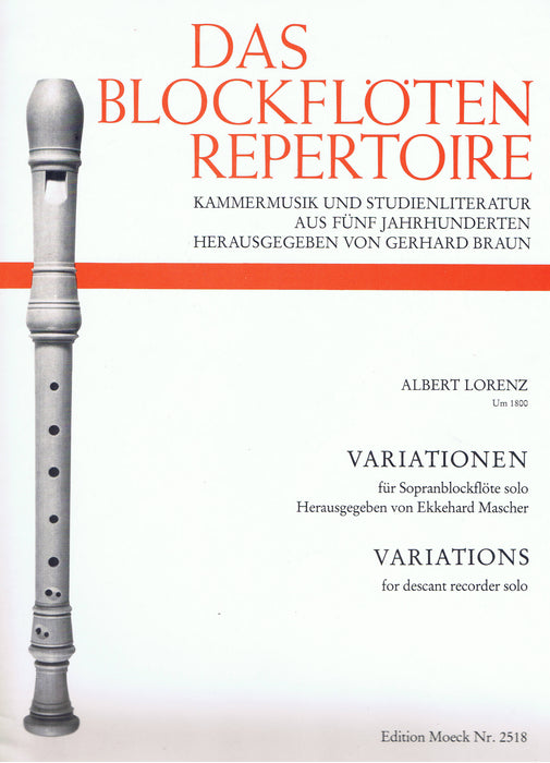 Lorenz: Variations for Descant Recorder Solo