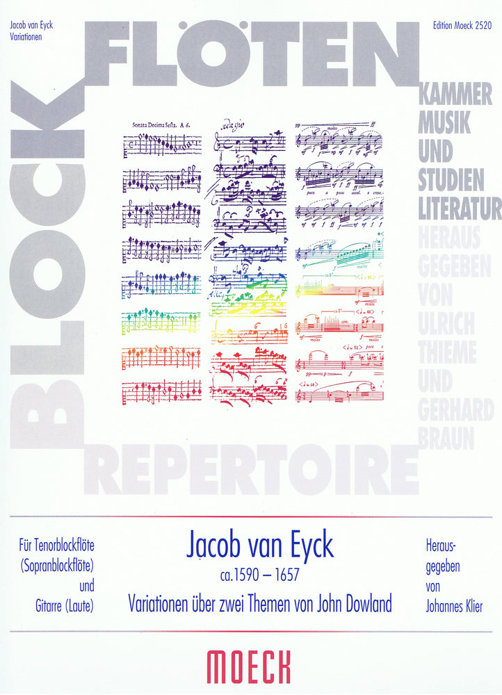 van Eyck: Variations on 2 Themes by Dowland for Tenor Recorder and Guitar