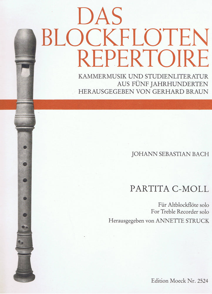 Bach: Partita in C Minor for Treble Recorder Solo