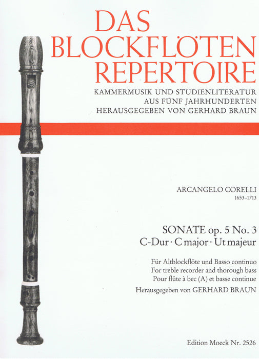 Corelli: Sonata in C Major for Treble Recorder and Basso Continuo