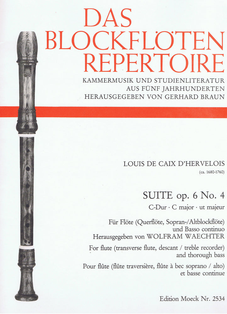 Caix D'Hervelois: Suite in C Major for Flute and Basso Continuo