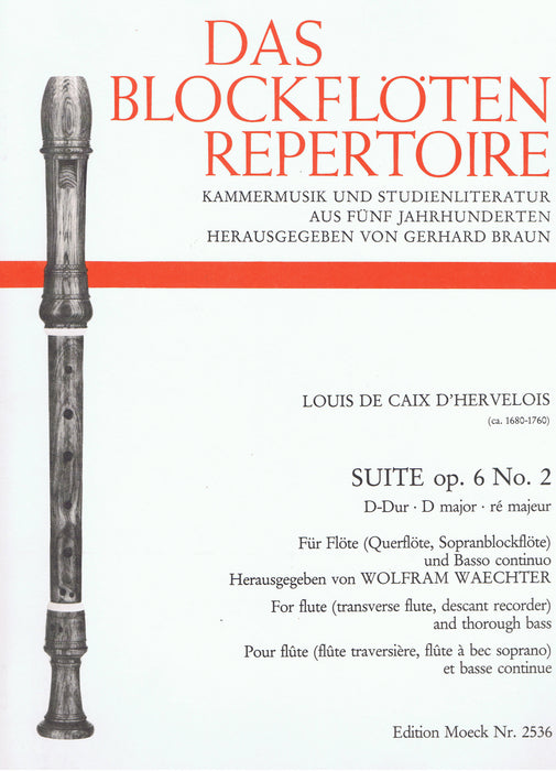 Caix D'Hervelois: Suite in D Major for Flute and Basso Continuo