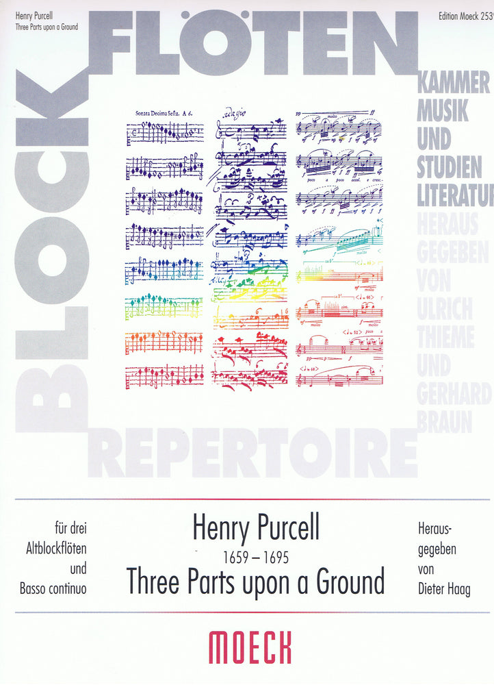 Purcell: Three Parts Upon a Ground for 3 Treble Recorders and Basso Continuo