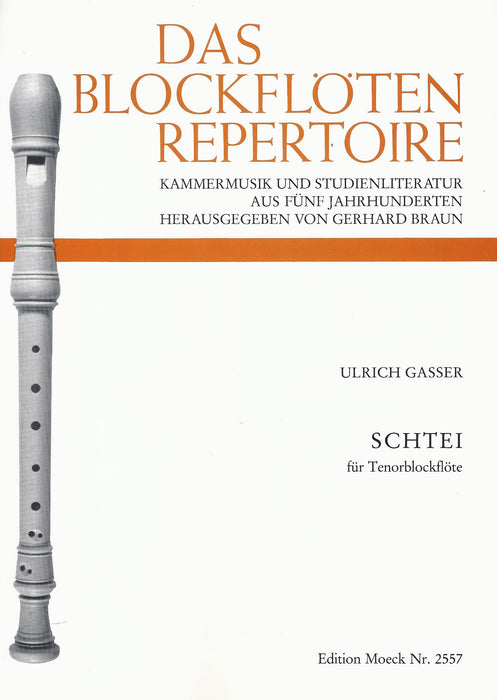 Gasser: Schtei for Tenor Recorder Solo