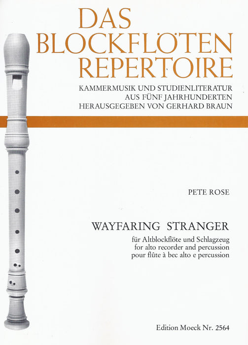 Rose: Wayfaring Stranger for Alto Recorder and Percussion