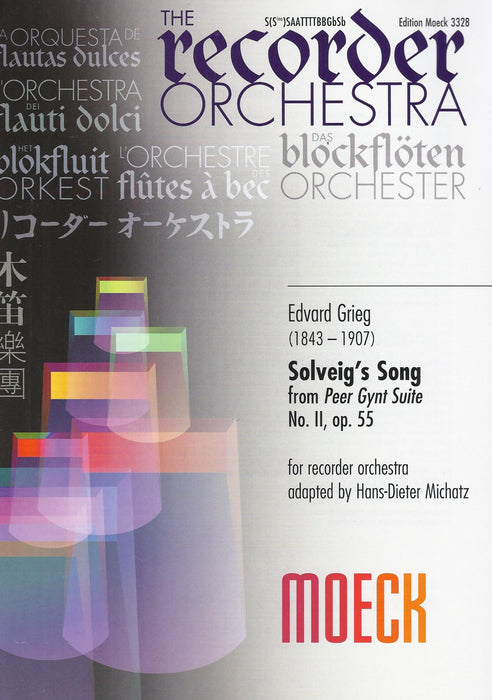 Grieg: Solveig's Song from Peer Gynt Suite for Recorder Orchestra