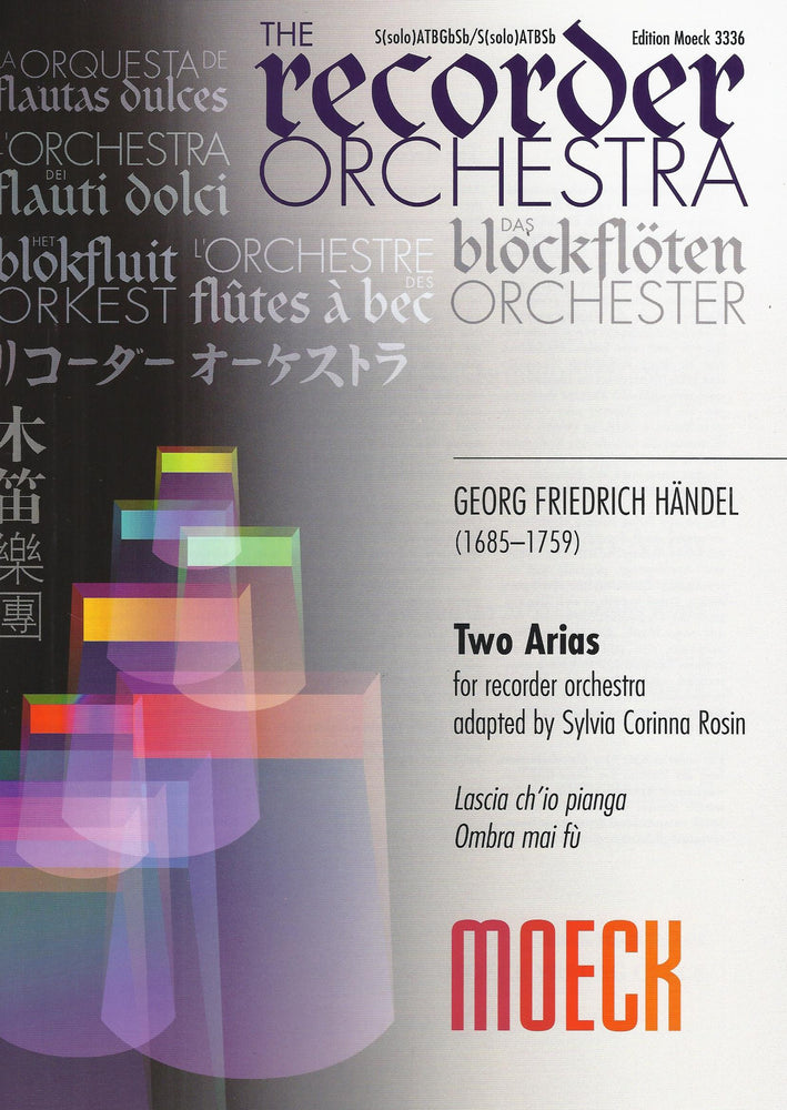 Handel: Two Arias for Recorder Orchestra