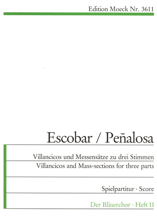 Escobar: Villancicos and other Pieces for 3 Recorders