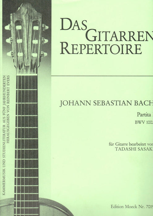 Bach: Partita I in B Minor BWV 1002 for Guitar