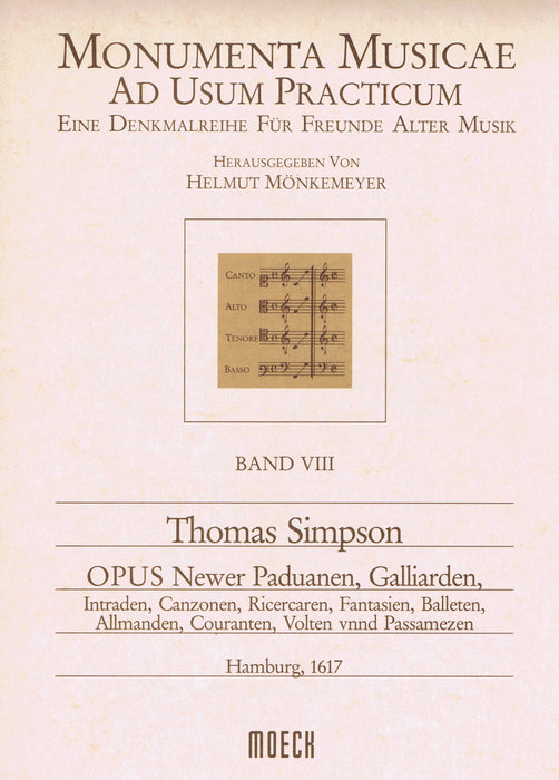 "Simpson: ""Opus Newer Paduanen, Galliarden...""  in 5 Parts"