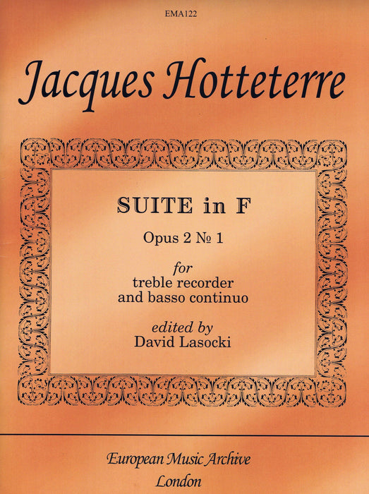 Hotteterre: Suite in F Major for Treble Recorder and Basso Continuo