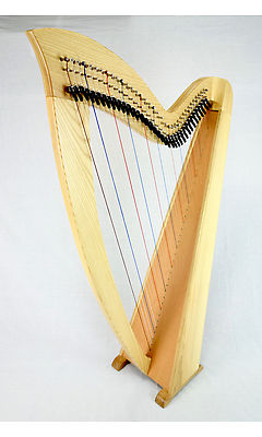 EMS 36 String Heritage Student Lever Harp in Ash