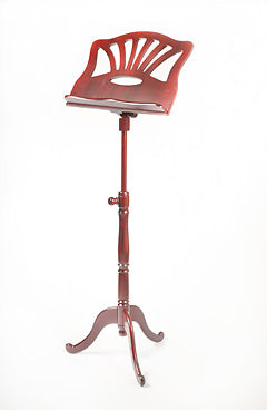 EMS Concerto Wooden Music Stand in Mahogany (mahogany finish)