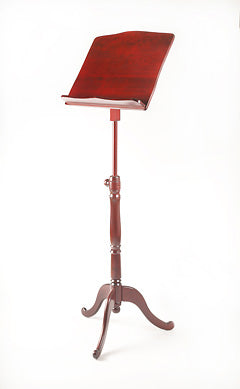 EMS Overture Wooden Music Stand in Mahogany (mahogany finish)