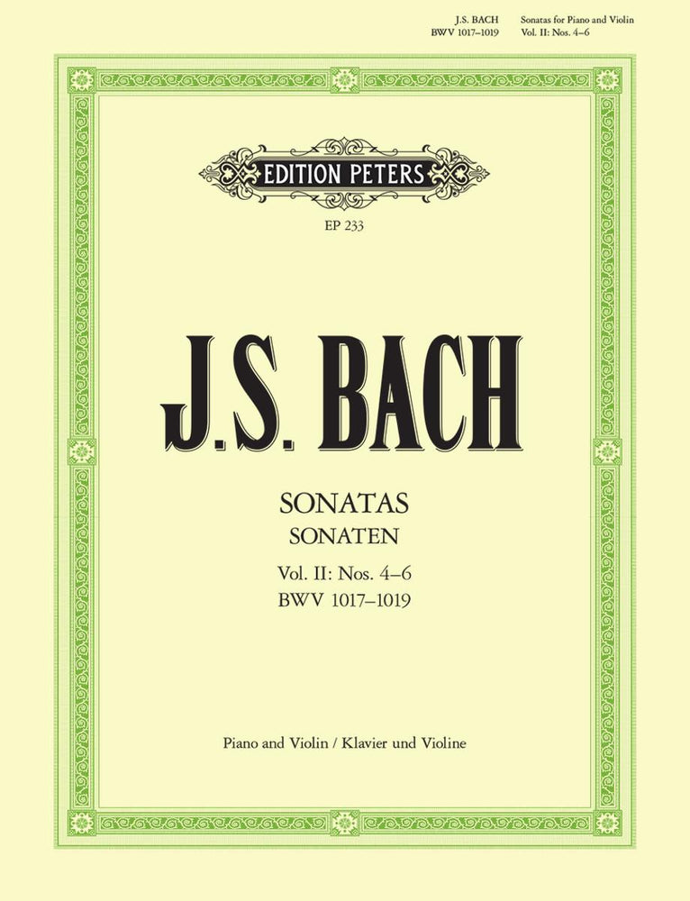 Bach: 6 Sonatas for Violin and Harpsichord, Vol. 2 Sonatas 4-6