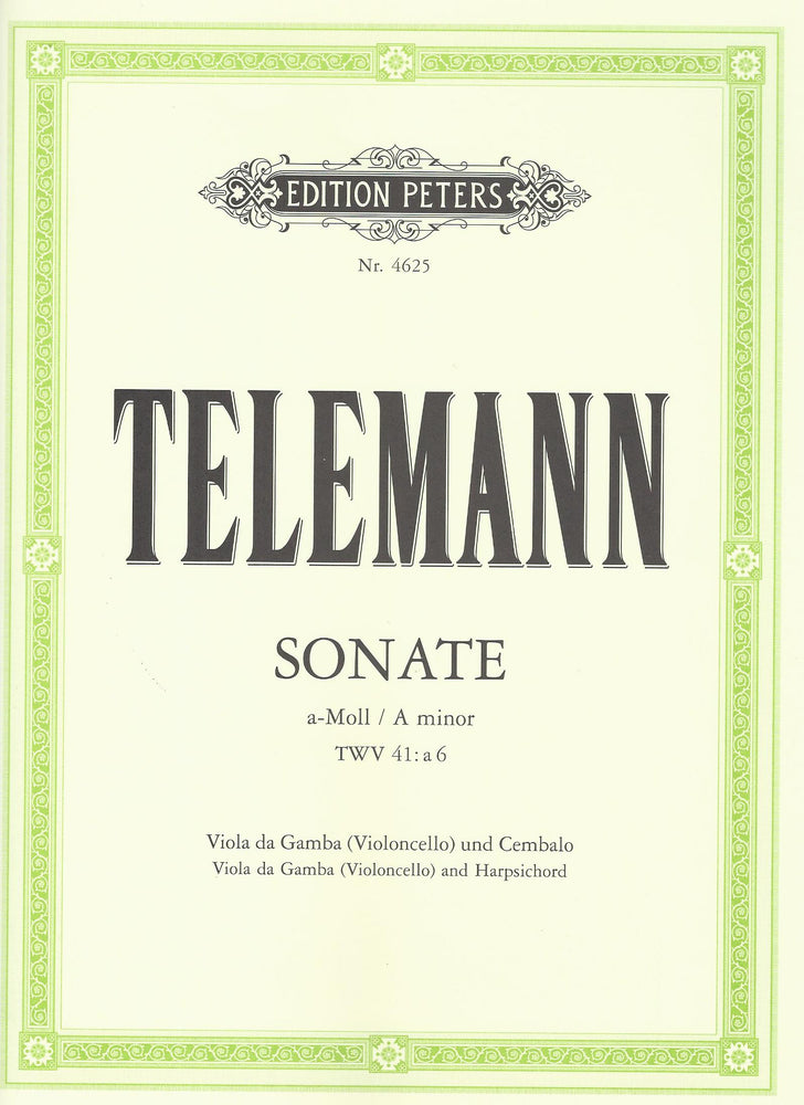 Telemann: Sonata in A Minor for Viola da Gamba and Harpsichord